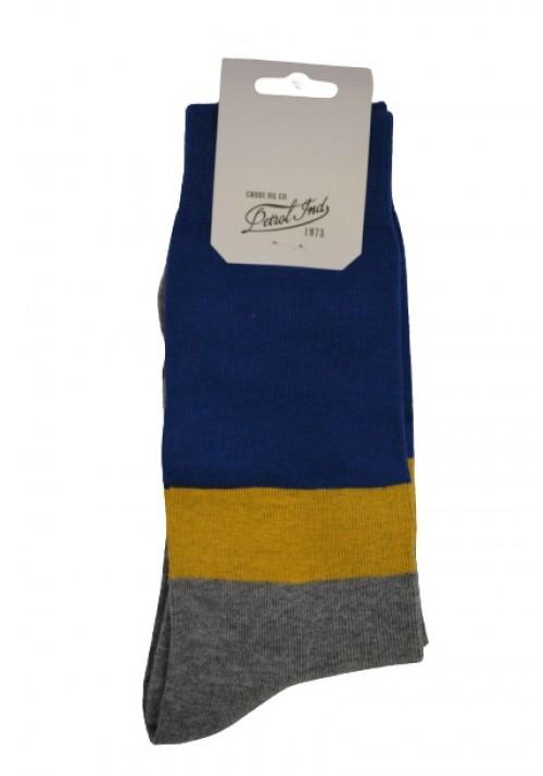 Men socks  Petrol 73-12 grey-blue