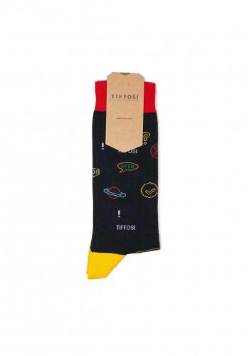 Men sock all over print Tiffosi 790 Blue