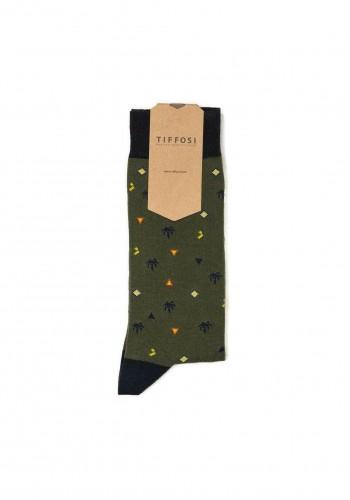 Sock sock all over print Tiffosi 10041939 Green