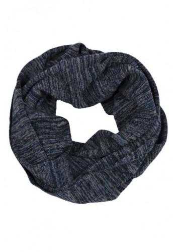 Men scarf ring Petrol scr935 blue
