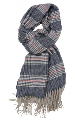 man scarf smithys ma17916 blue checked