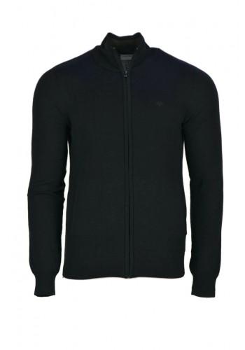 Men Knit Cardigan Gnious 300138 Black