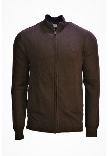 Men Knit Cardigan Gnious 300138 Brown