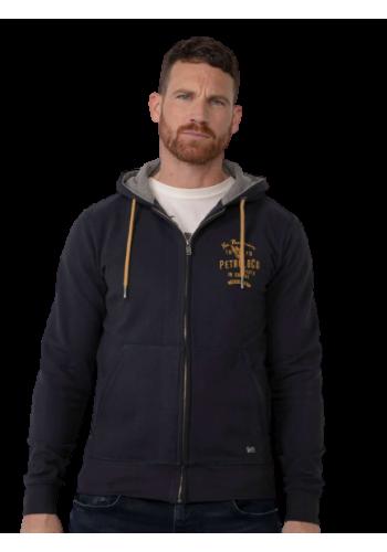 Men Zipped hoodie Petrol SWH 304-5110 Dark navy
