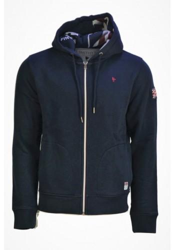 Men Zipped hoodie Smithy's SW21MFE222 blue