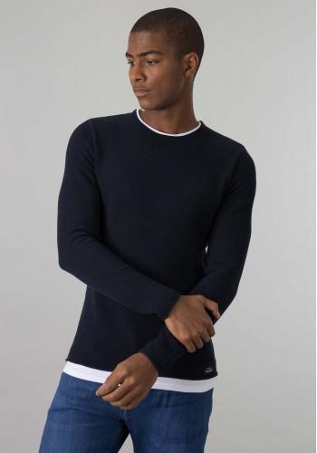 Aνδρική Μπλούζα Tiffosi Μακρυμάνικη μπλέ