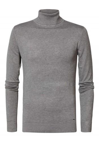 Men Fine-knit turtleneck Petrol KWC2040-9046 Light Slate Melee