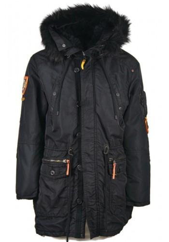 Men's Jacket Parka Khujo Robinson 2688CO183-200 Black