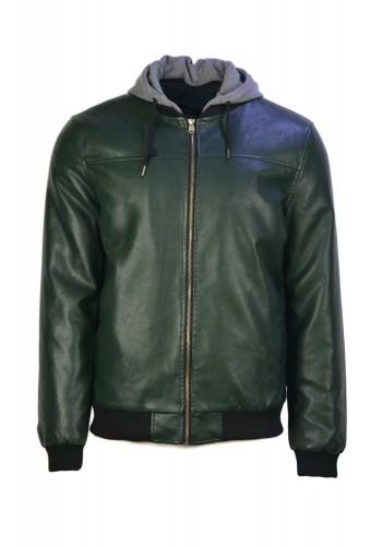 Men Jacket Faux Leather Tiffosi Green