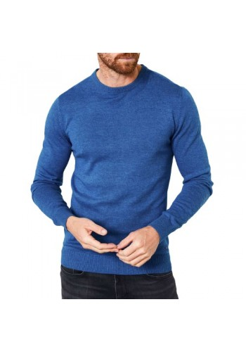 Men Fine-knit pullover Petrol201-5078 Blue