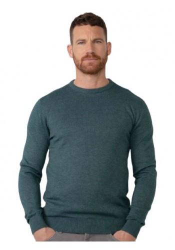 Men Fine-knit pullover Petrol 201-6089 Green
