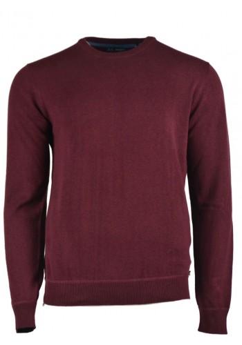 Men knit pullover Ascot V burgundy
