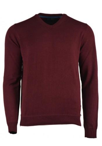 Ανδρική μπλούζα Ascot μακρυμάνικη μπορντό