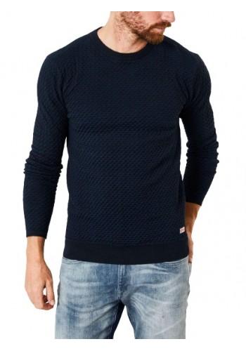 Mens Fine-knit pullover Petrol 247-5091 Blue