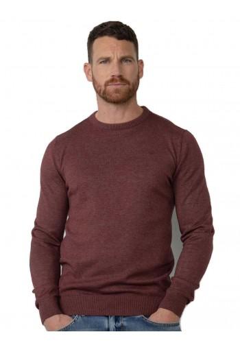 Men Fine-knit pullove Petrol 201-3118 Burgundy