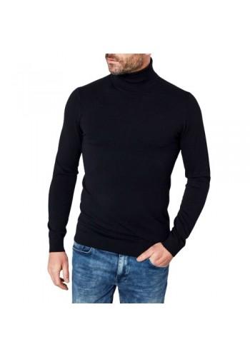 Ανδρική μπλούζα ζιβάγκο Petrol μαύρη