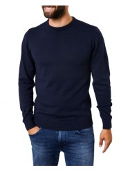 Men Fine-knit pullover  Petrol 201-5091 blue