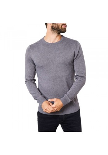 Men Fine-knit pullover Petrol 201-9088 Grey
