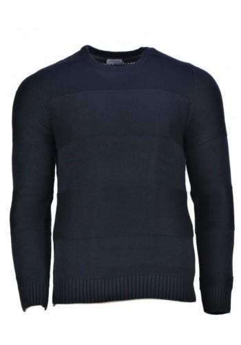 Men knite poulover Gnious 3002 Blue