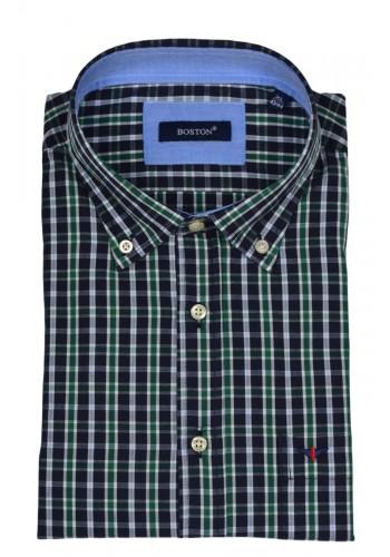 Mens shirt Boston 350-2 regular fit long sleeves blue