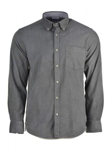 Aνδρικό πουκάμισο Ascot 15890-09 μακρυμάνικο κοτλέ γκρί