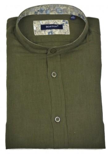 Men's Shirt Linnon Boston 12001-5 Green Mao Long Sleeve