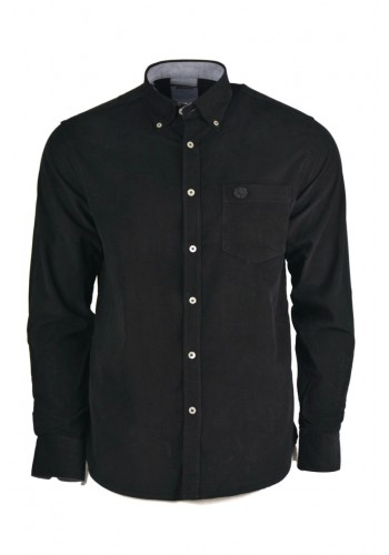 Men Shirt Ascot 15890-08 Long Sleeves Black