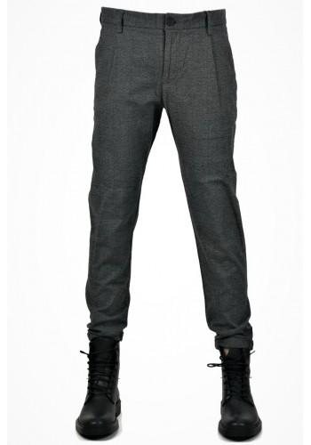 Men pants Checked chinos Tiffosi H46 Grey slim fit