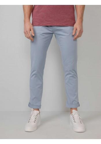 Aνδρικό chino παντελόνι με ζώνη ελαστικό Petrol σιέλ