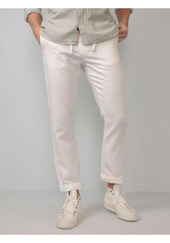 Ανδρικό  chino λινό παντελόνι λευκό