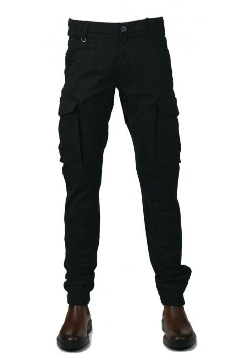 Men cargo trousers  Gnious 16-300133 black