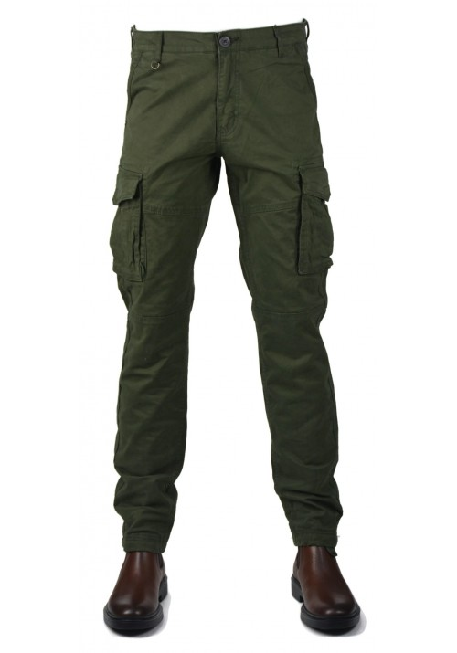 Men cargo trousers Gnious 16-300133 Green