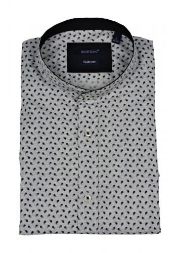 Ανδρικό πουκάμισο Boston mao 1895-12 φλοράλ