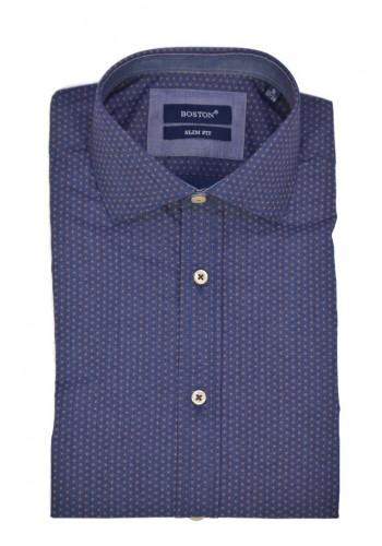 Men shirt Boston 2459-2 blue