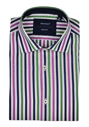 Ανδρικό πουκάμισο Boston 403-1 ριγέ πολύχρωμο