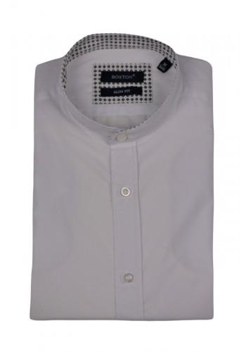 Ανδρικό πουκάμισο Boston mao 7599-1 λευκό