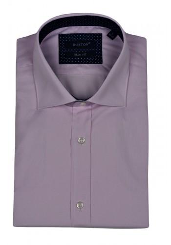 Ανδρικό πουκάμισο Boston 7599-3 μονόχρωμο ροζ