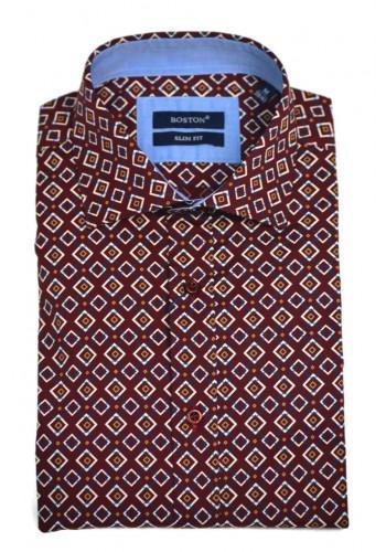 men shirt  BOSTON 6046-11 longsleeve  all over print