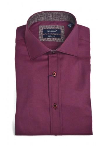 Men shirt slim fit  Boston 6046-12 burgundy