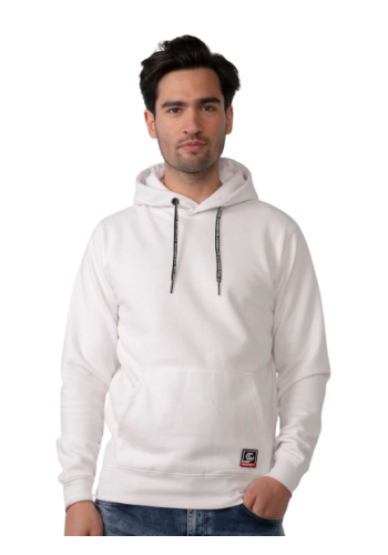 Men Comfortable hoodie SWH301-0000 Bright White