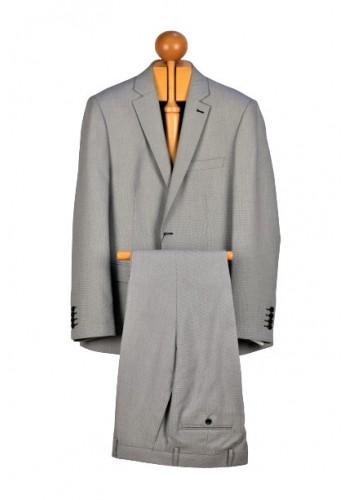 Aνδρικό κοστούμι σε κανονική γραμμή γκρί ανοιχτό