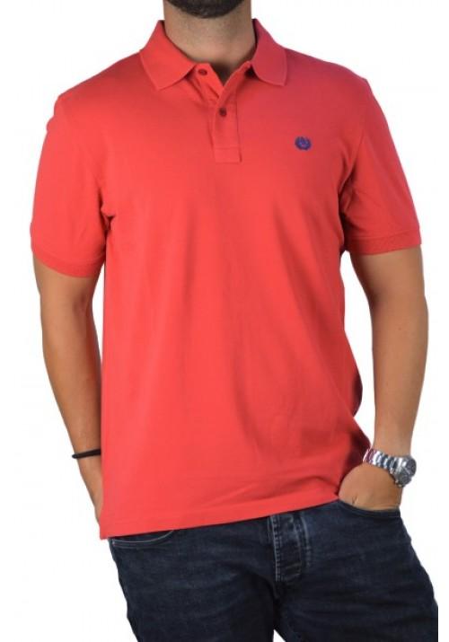 Ανδρική μπλούζα Polo Ascot Sport 350-23 μονόχρωμη πορτοκαλί