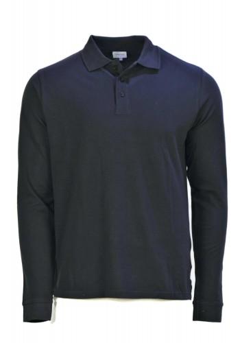 Aνδρική μπλούζα  πόλο Gnious μακρυμάνικη μπλέ