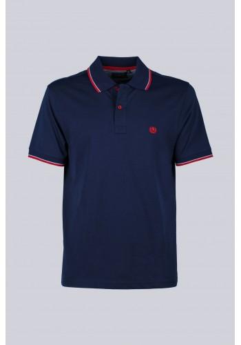 Ανδρική πόλο μπλούζα Ascot 15705-380 μπλέ
