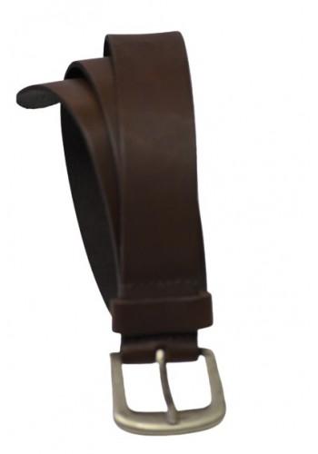 Men Leather Belt Petrol Brown