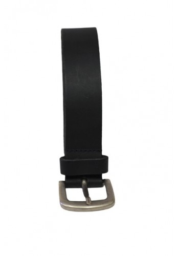 Men Leather Belt Petrol Black