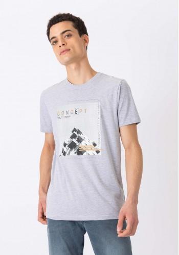 Aνδρικό Τ-Shirt Tiffosi natsuo γκρί
