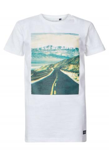 Men T-Shirt with print Petrol 511-0 Bright White