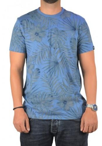 Ανδρικό T-shirt Cars jeans Navy Μπλέ φλοράλ