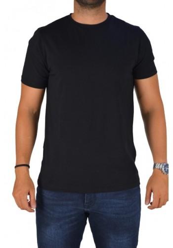 Aνδρικό t-shirt  Hamaki-Ho TC2848H μαύρο μονόχρωμο